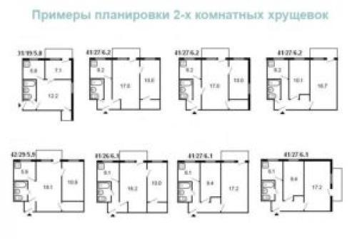 Планировка 2 х комнатной хрущевки. Преимущества и недостатки перепланировки