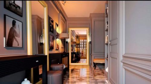 Ремонт в узком коридоре. Специальный дизайн для узкого коридора