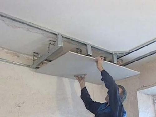 Обшивка гипсокартоном потолка и стен. Отделка потолка гипсокартоном: быстро и эффективно