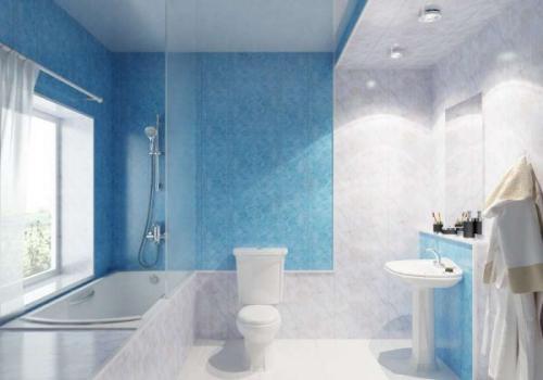 Ремонт в ванной ПВХ панели. Внешний вид