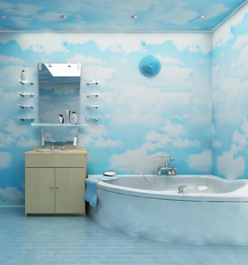 Ремонт панелями в ванне. Отделка ванной комнаты пластиковыми панелями