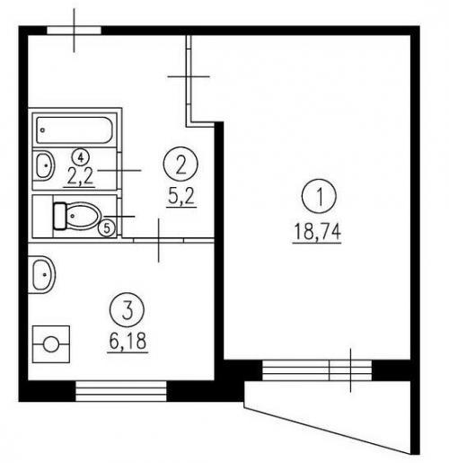 Перепланировка однокомнатной квартиры в студию. Предлагаем рассмотреть все сложности в каждом из случаев