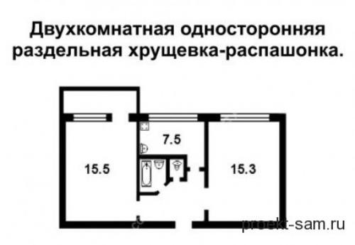 Планировка хрущевки двухкомнатной. Планировка двухкомнатной квартиры в хрущёвках