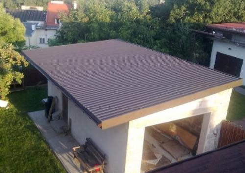 Как покрыть бетонную крышу гаража профнастилом. Подготовительные работы
